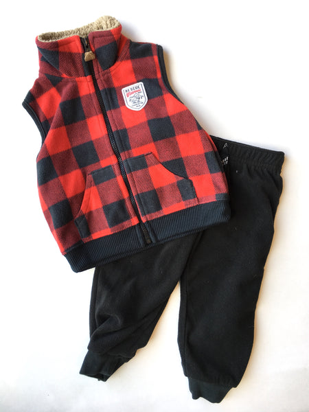 Carter's Fleece Vest + Pants | 12M