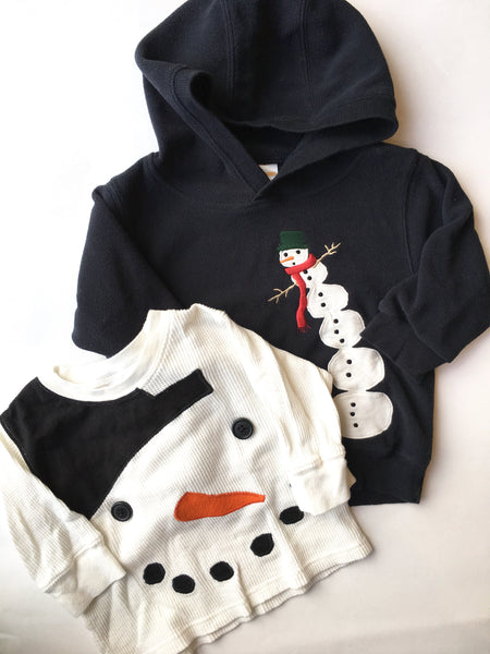 Gymboree Fleece Hoodie + Shirt | 12-18M