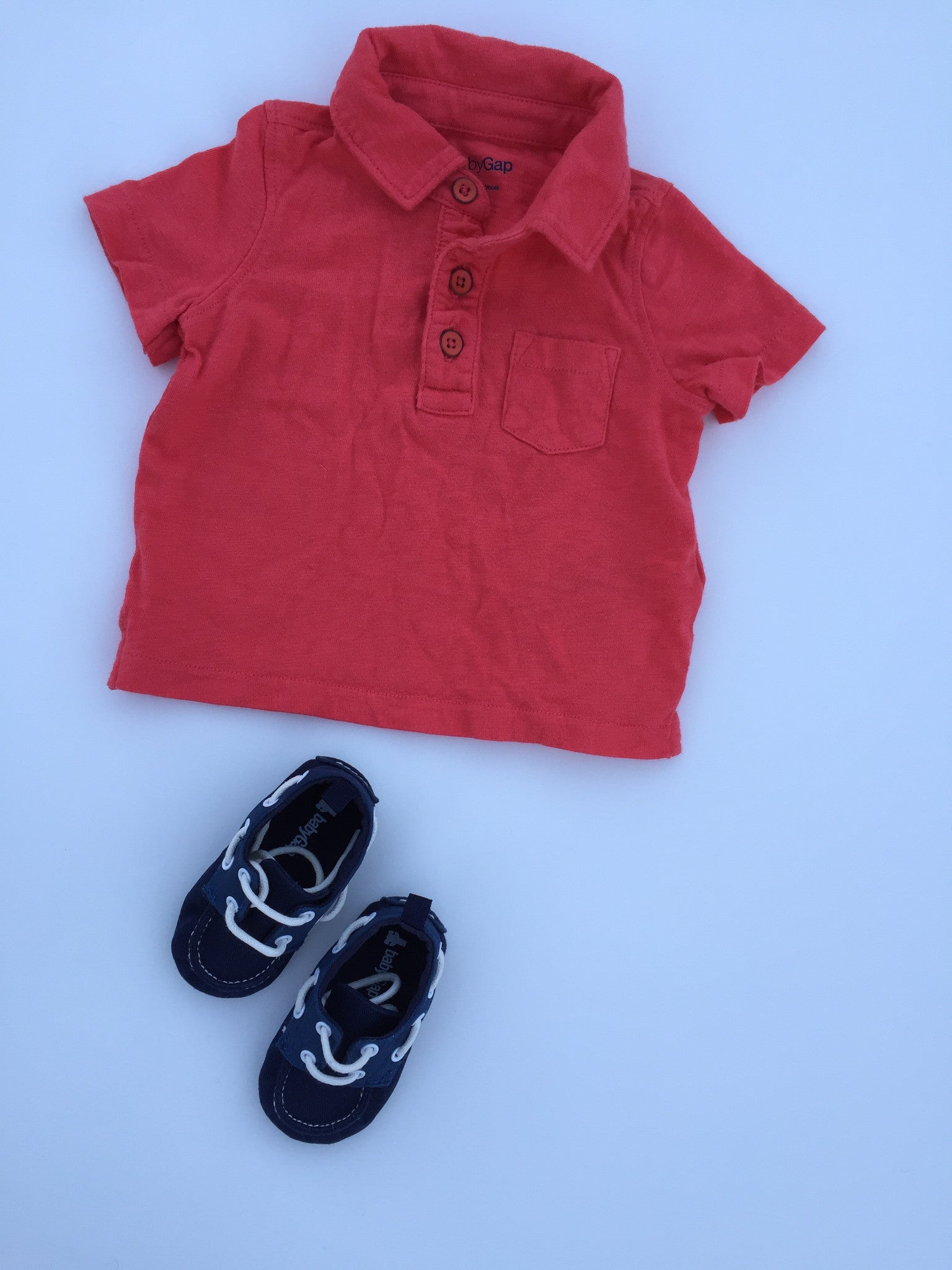 Baby Gap Shirt + Tiny Loafers | 3-6M