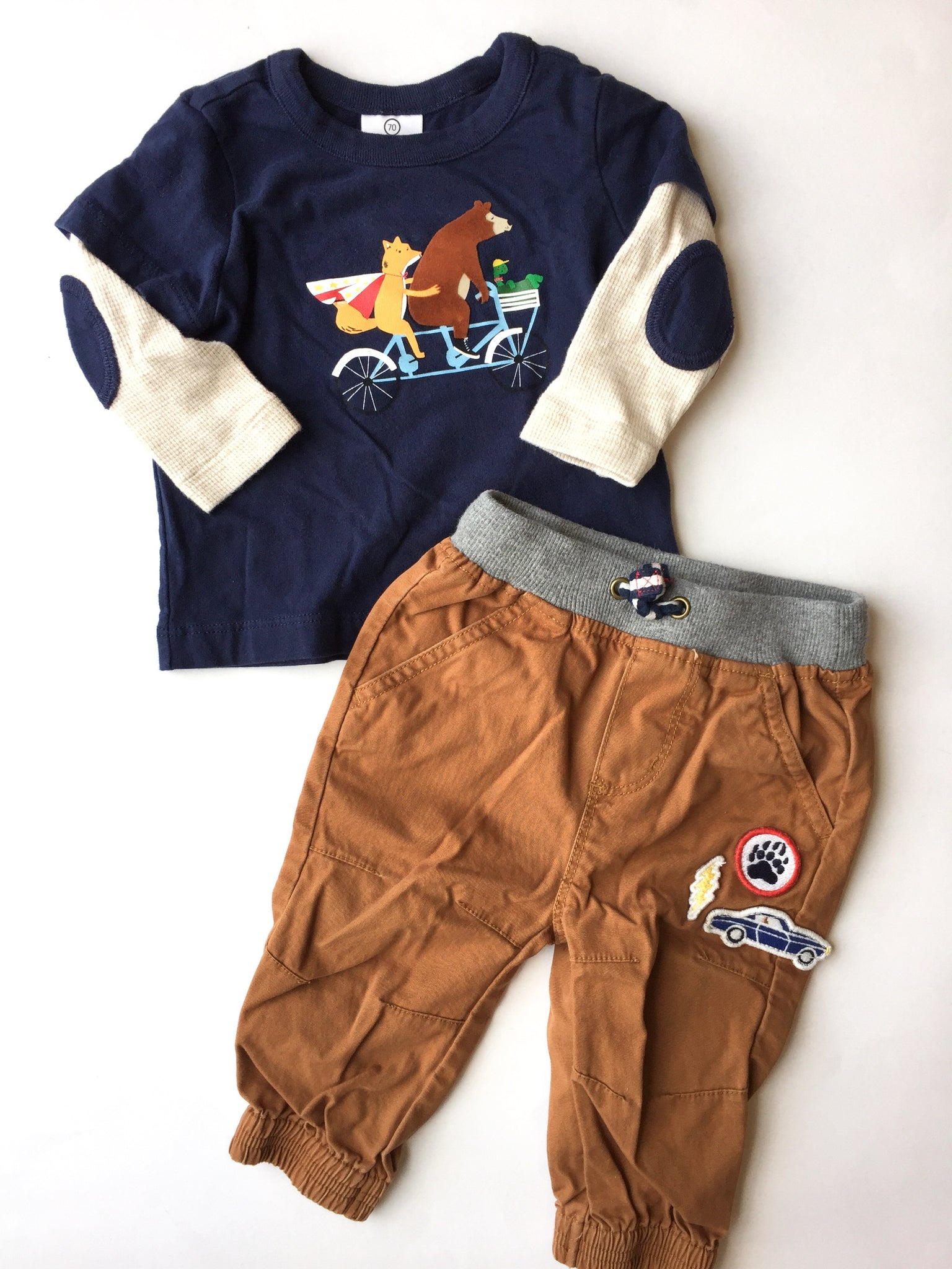 Hanna Andersson Shirt + Pants | 6-12M