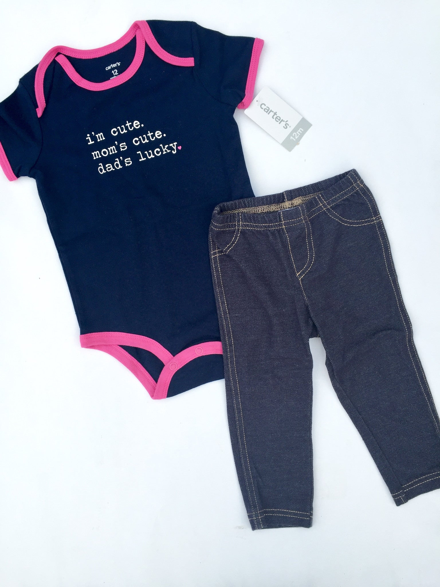 Carter's Onesie + Jeggings NWT | 12M