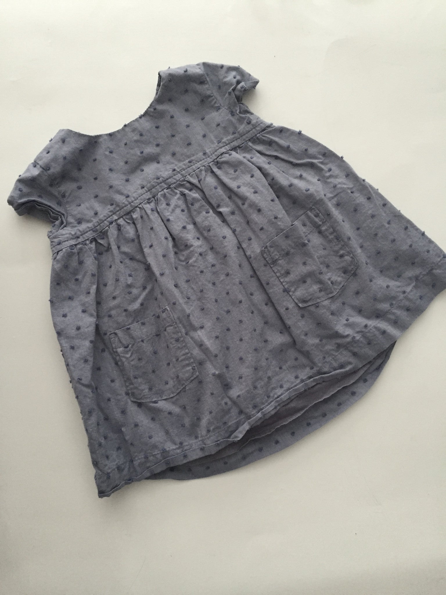 Baby Gap Chambray Polka Dot Dress | 6-12M