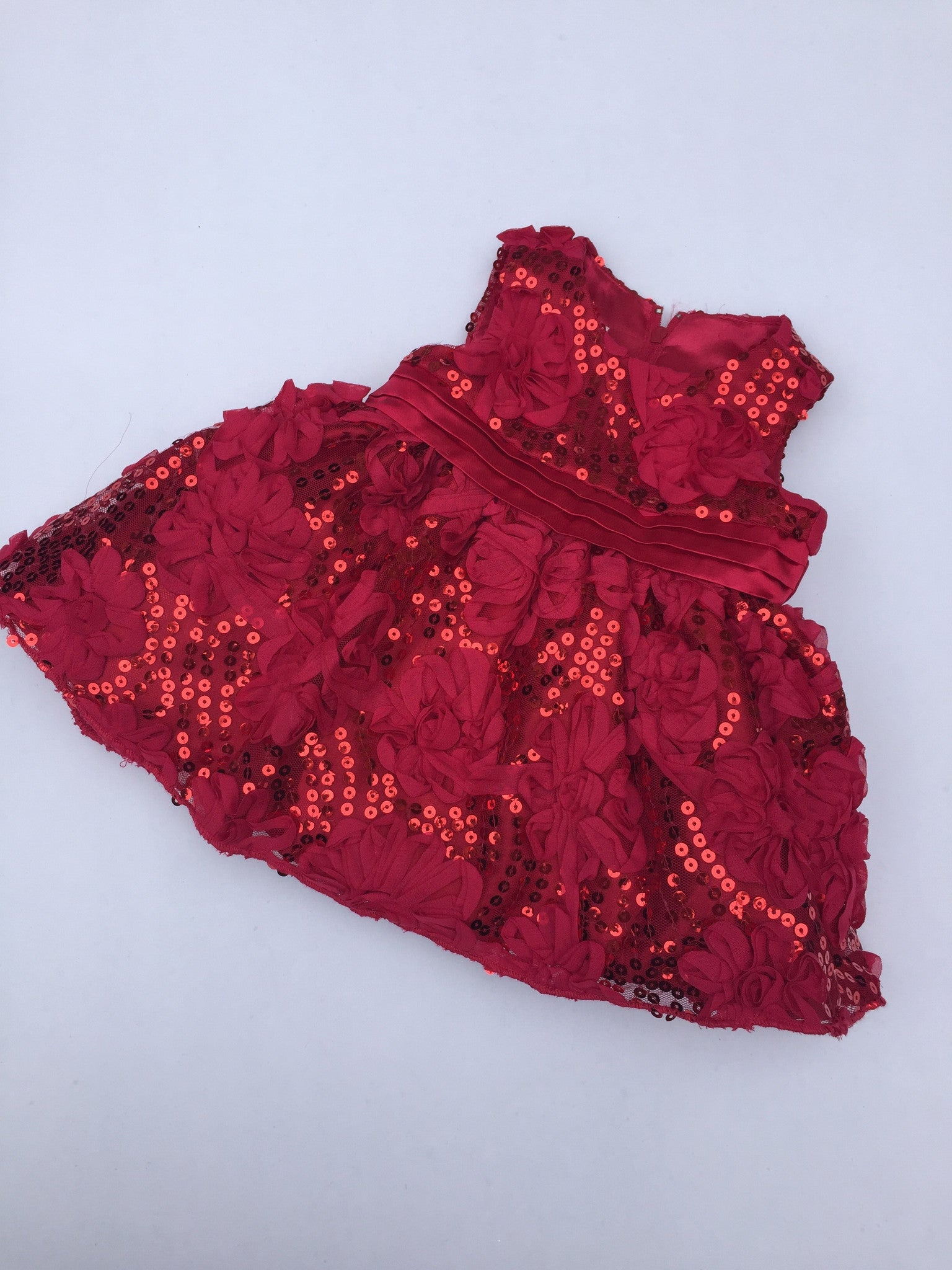 Red Sequin Dress | 3-6M