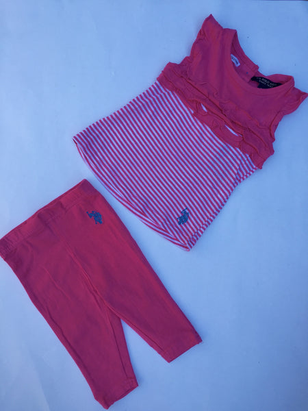 Pink Polo Outfit | Girls | 6-9 Months