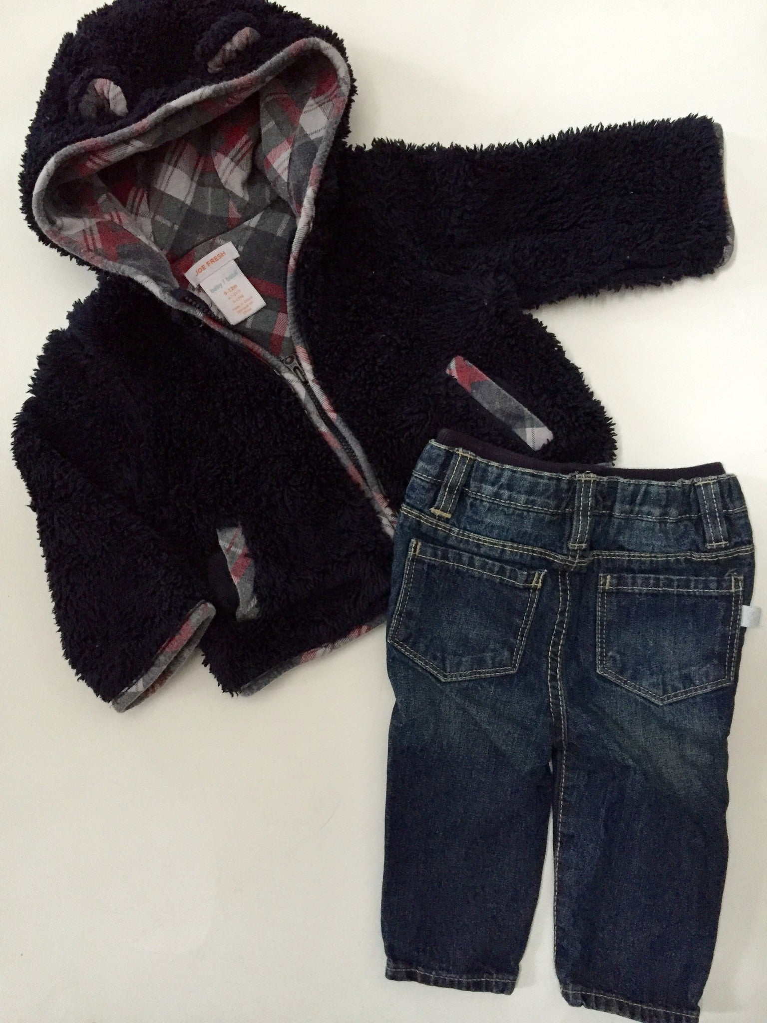 Joe Fresh Cozy Bear Zippy + Soft Waist Jeans | 6-12M