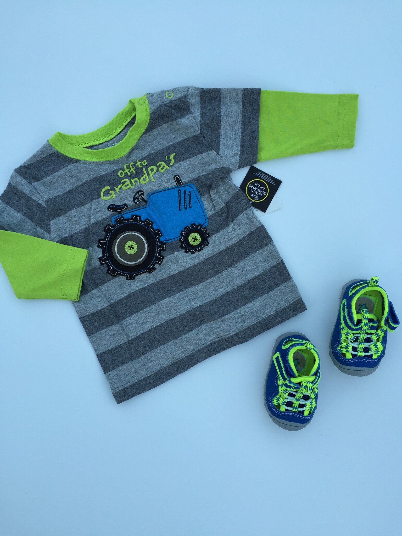Carter's Shoes + George Grandpa Shirt NWT | 0-6M
