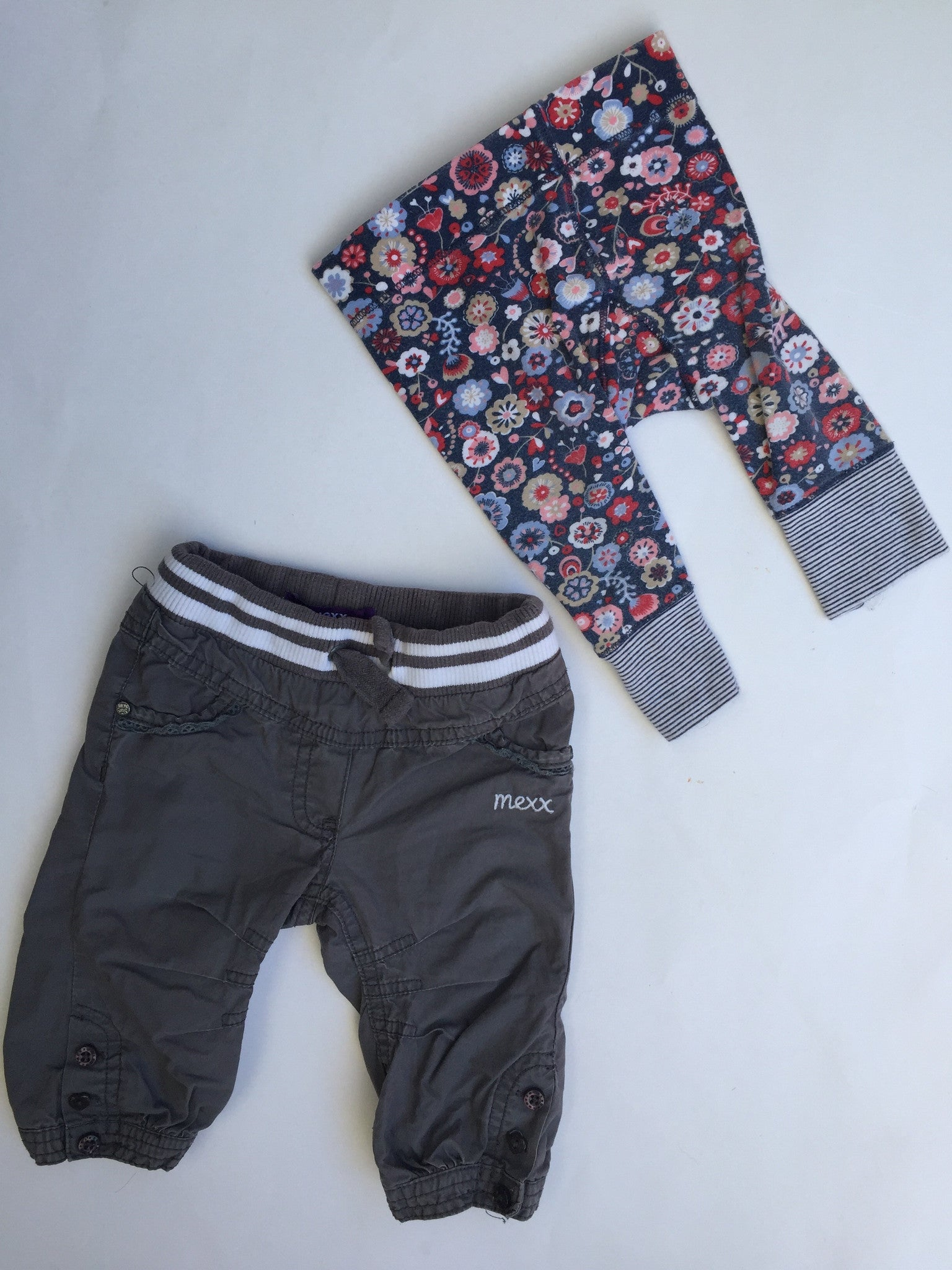 Mexx Pants & Floral Leggings | Girls | 3-6M
