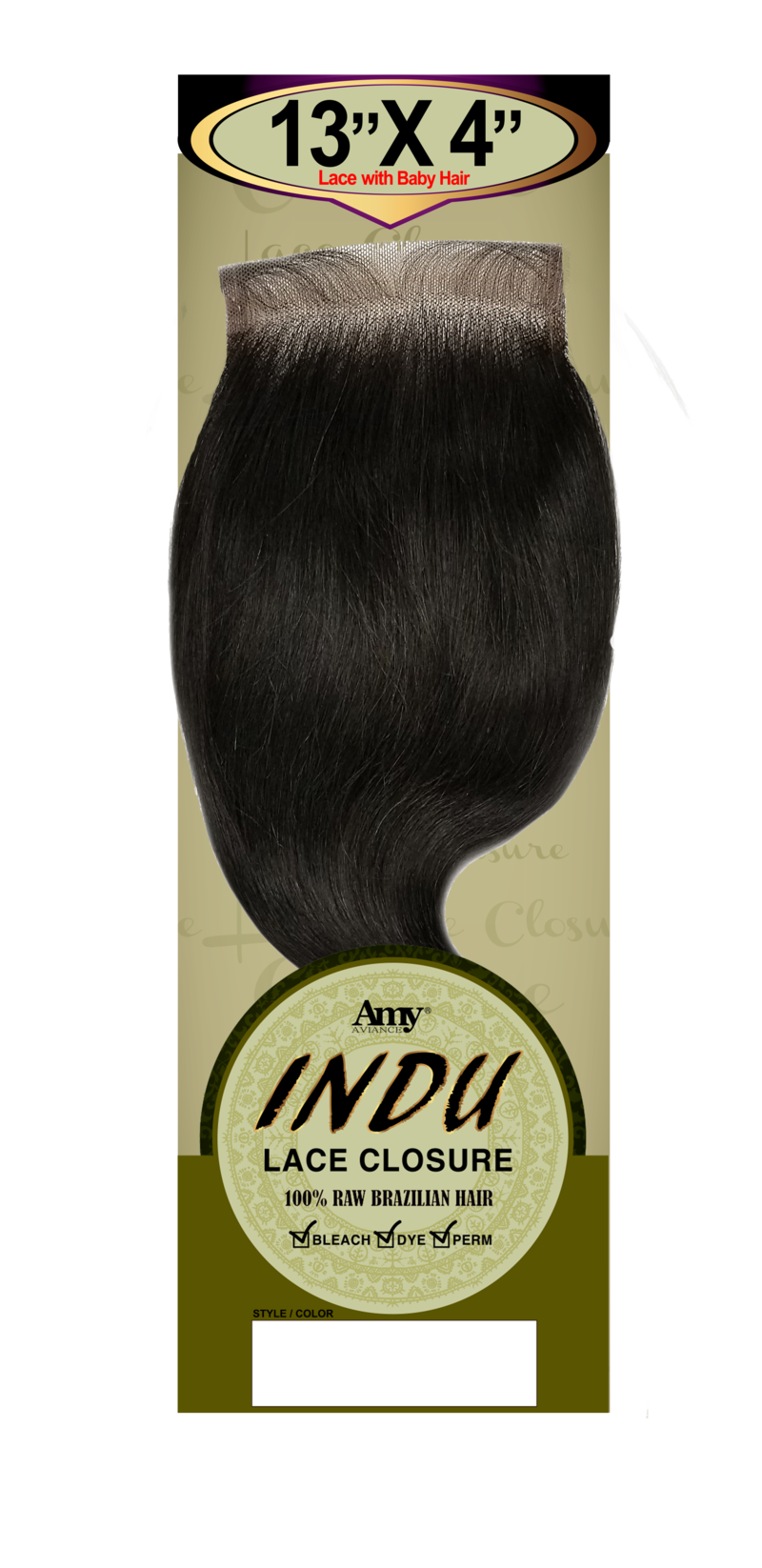 Indu 13X4 Lace Closure S-Body 14""
