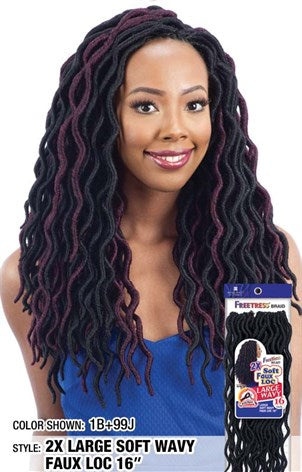 "SOFT WAVY FAUX LOCK 16"" (KWL16)"