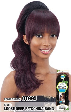 2 PIECE LOOSE DEEP BANG+PONYTAIL (PGLDC)