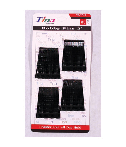 Black Bobby Pins 2""