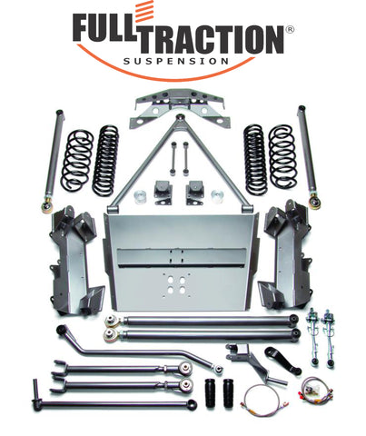 Jeep Rubicon Wrangler 4.0-inch Long Arm SRS Suspension System Part FTS750207
