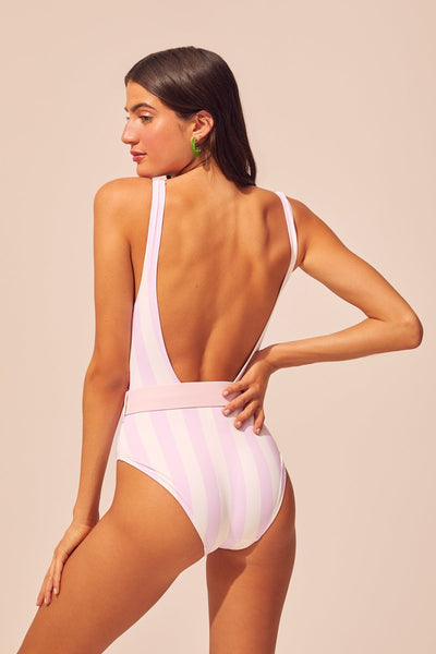 Solid & Striped - Anne-Marie One Piece - Pink Stripe
