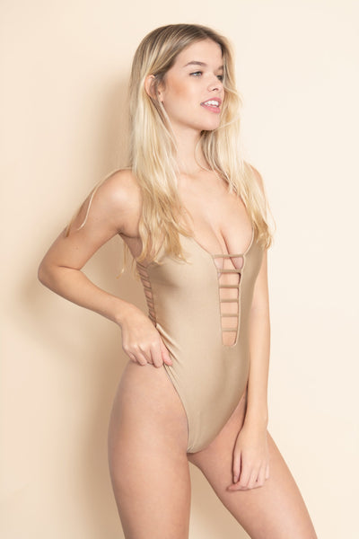 Montce - Dark Sand Cage One-Piece