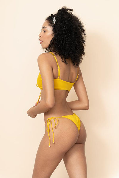 Sommer Swim - Gia top and Cara bottom - Mustard