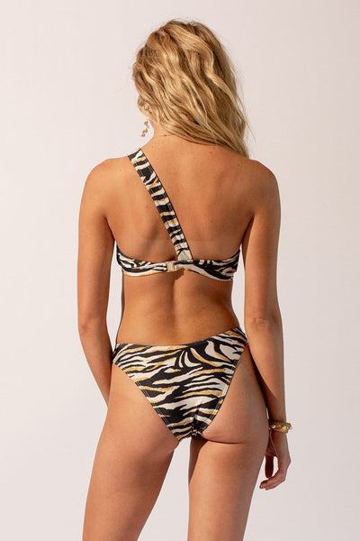 Suboo - Leila One Shoulder Bikini Set - Tiger