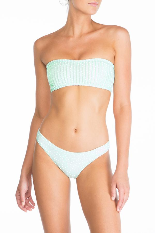 Peony - Pintucked Bandeau & Staple Pant - Mint