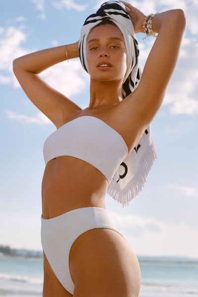 Seafolly - Tube Top & High Rise Pant - White