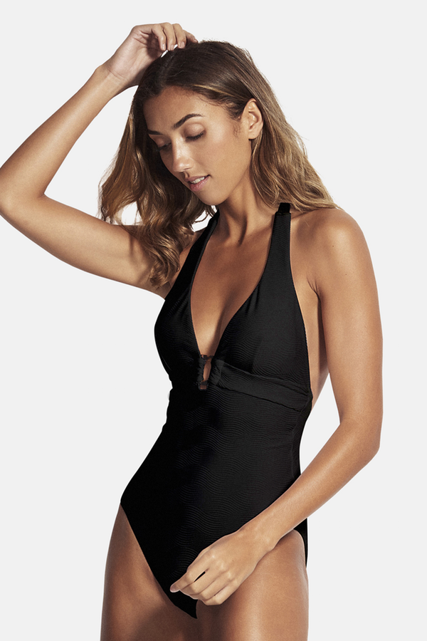 Seafolly - Halter Maillot - Black