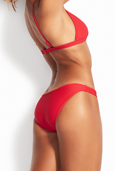 Seafolly - Fixed Tri Bra & Hipster Bottoms - Chilli
