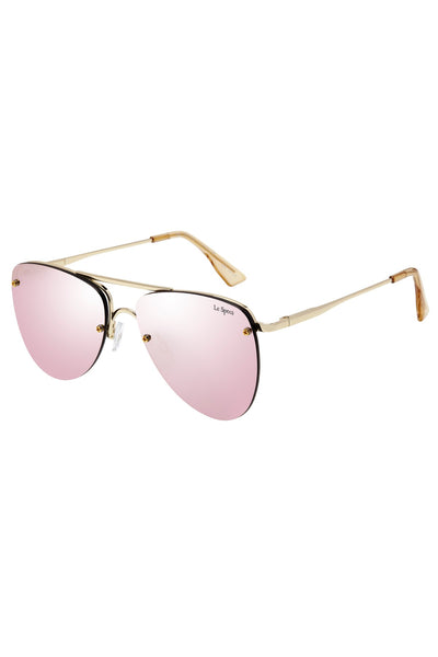 Le Specs - The Prince Sunglasses - Gold/Blush