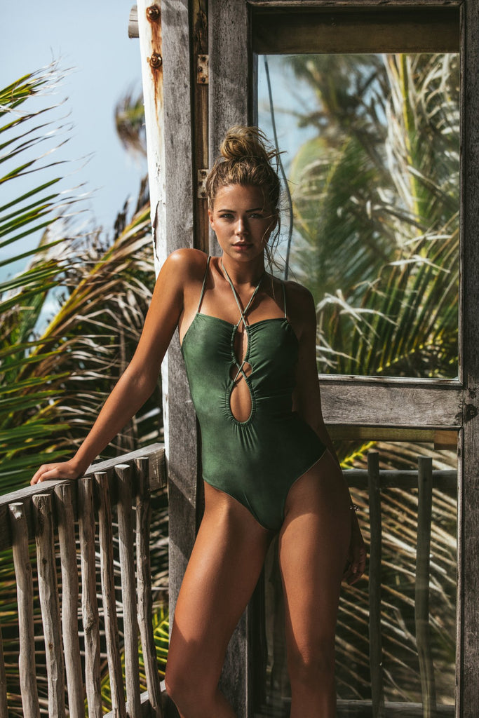 Poema - Zara One Piece - Verde Green