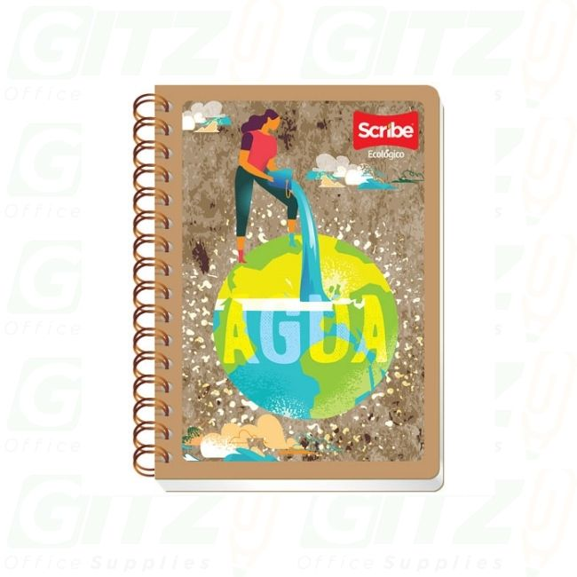 Scribe Professional Eco-Friendly Double Spiral Notebook 200sht 5730