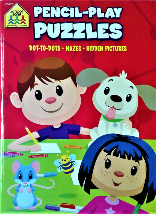 Activity Books School Zone Pencil-Play Puzzles, Dot-To-Dot