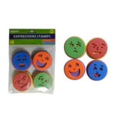 Foam Expression Stamps (4Pc)