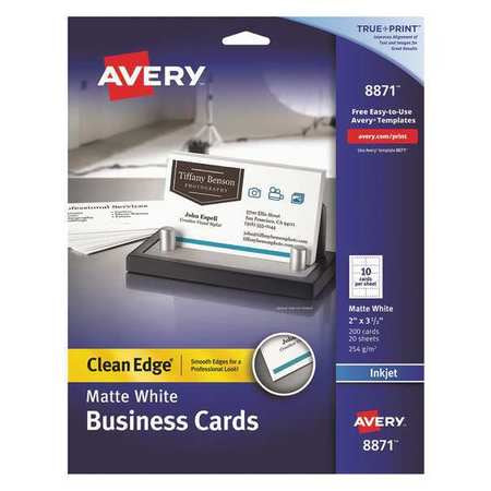 Avery Business Cards Clean Edge 10 Cards/Sht 8871