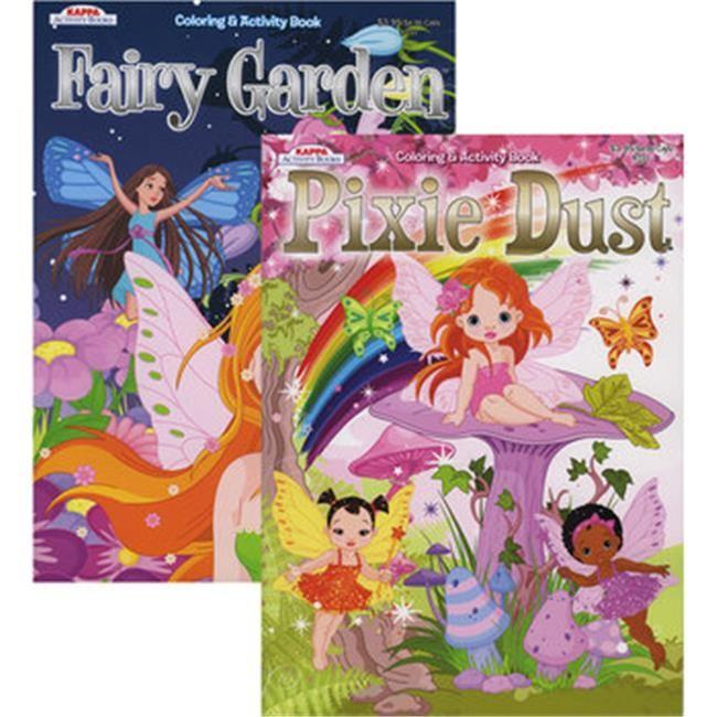 Kappa Fairy Garden And Pixie Dust Coloring & Activity Book #73300