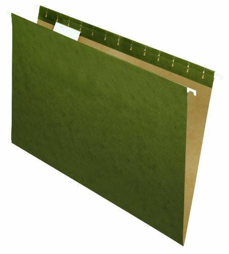 HANGING FILE FOLDER LETTER 1/5 TAB GREEN 25/PK-ISLAND