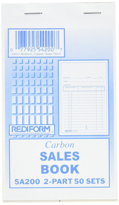 Carbon Sales Book (10Ct) #5A200