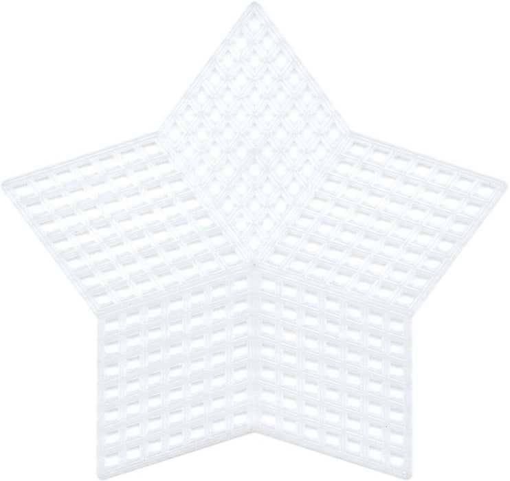 PLASTIC CANVAS-5 STAR SHAPE- 5 PK