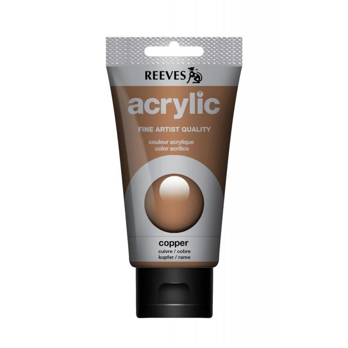 Reeves Copper Acrylic Tube  75Ml