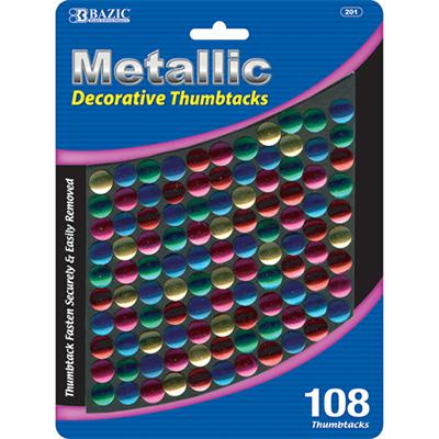 Bazic Thumb Tax Asst Color 108Ct 201