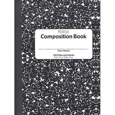 COMPOSITION BooK 100SHEET IMPERIAL BLACK/COLORED