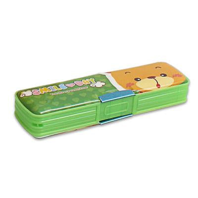 Double Side Embossed Pencil Box With Magnetic Snap