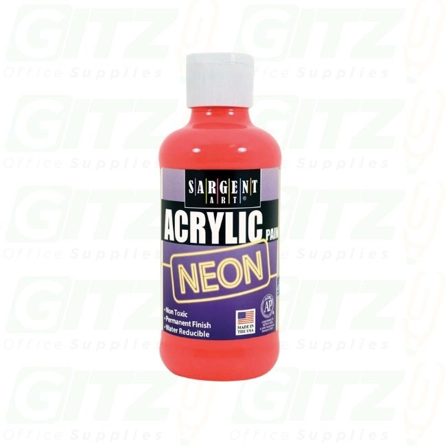 ACRYLIC 8oz NEON RED -SARGENT