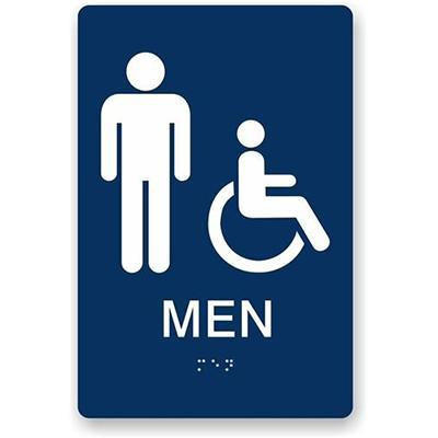 Men Ada Braille Sign 6X9