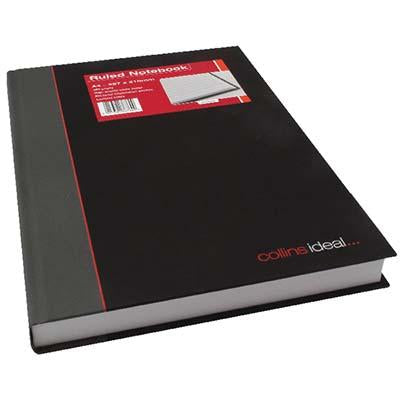 NOTEBOOK COLLINS BLACK/GREY A4 192LF 384pg #6448