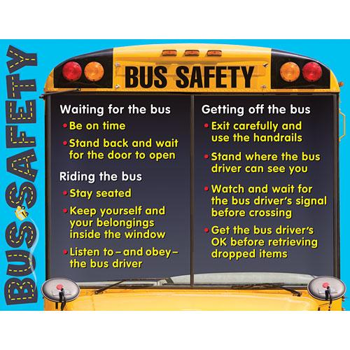 Wall Chart Bus Safety