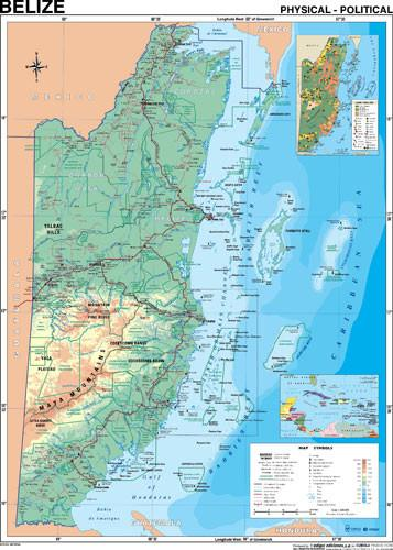 Belize Travel Map (W Facilities)