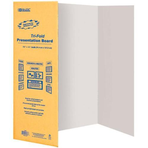 Display Board 28X40 White Tri-Fold 5086