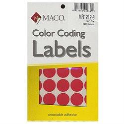 Labels 3/4 Round Red Mr-1212-8
