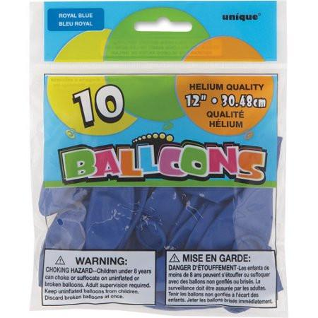 Balloons 10 Ct Royal Blue Helium