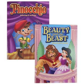 Coloring Book Fairy Tales Mix 96Pg Beauty And The Beast/Pinocchio #2161