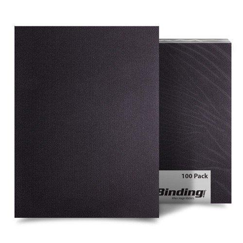 Studmark Binding Covers Linen Black 100Pk