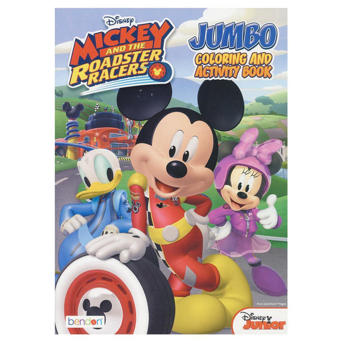Mickey Roadster Racers Jumbo Coloring And Activity Book