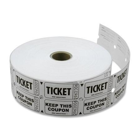 TICKET ROLL DOUBLE-WHITE